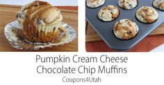 These pumpkin cream cheese chocolate chip muffins bring some of my favorite fall flavors together. They make a quick and easy breakfast or snack.