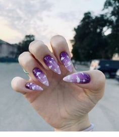 127 awesome acrylic coffin nails designs in summer -page 7 > Purple Acrylic Nails, Blue Nail, Summer Acrylic Nails, Best Acrylic Nails, Purple Nails, Acrylic Nail Designs, Purple Nail Designs, Summer Nails, Nail Swag