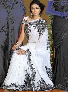 White Sarees | Home :: Wedding Sarees :: Off White Saree