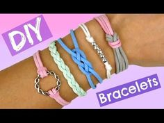 DIY Frendship Bracelets I 5 EASY and Cool Bracelets I Stackable Arm Candy projects - YouTube