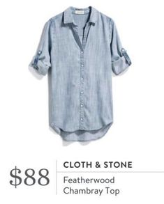 Chambray is perfect for casual or dressier outfits. Would be hr at for nursing too. Stitch Fix App, Stitch Fit, Stitch Fix Outfits, Chambray Top, Stitch Fix Stylist, It Goes On, Style Inspiration, Style Ideas, Style Me