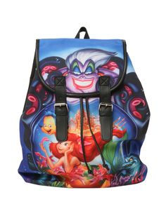 #Disney The Little Mermaid Poster Slouch Backpack | Hot Topic