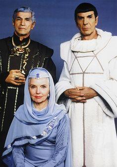 Family portrait: Sarek, Spock, and Amanda. <3