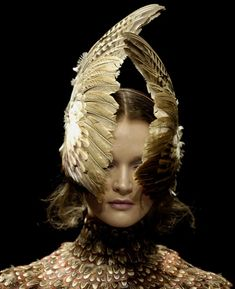Polina Kasina at Alexander McQueen Fall 2006, Widows of Culloden.