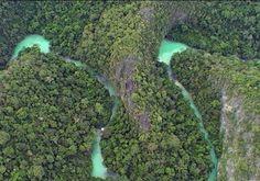 Parque Nacional da Serra da Bodoquena: Foto aérea do Rio Perdido