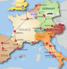 Bucket List! An idea for places to visit on our European roadtrip