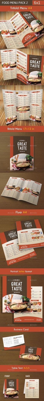 Food Menu Template #design Download: http://graphicriver.net/item/food-menu-pack-2/9767644?ref=ksioks