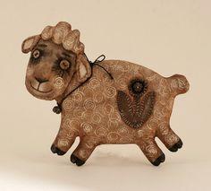 Овцы первобытной деревни художественного народного искусства подарок домашнего декора овца примитивная Кукла примитивная страна