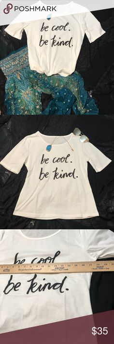 be cool be kind Fitting Tee Shirt Yoga Hippie Boho be cool be kind Fitting Tee Shirt Yoga Hippie Bohemian Style Top. New in package Tops Tees - Short Sleeve