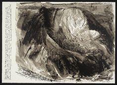 John Piper, Stones and Bones II [Cwm screenprint on paper, 502 x 698 mm. Landscape Drawings, Landscape Art, Landscape Paintings, Landscapes, John Piper Artist, Art Postal, Collage, Monochrom, Modern Landscaping