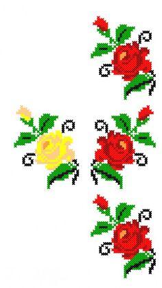 FL319 Cross Stitch Borders, Cross Stitch Flowers, Cross Stitch Charts, Cross Stitching, Cross Stitch Patterns, Hardanger Embroidery, Cross Stitch Needles, Tapestry Crochet, Knitting