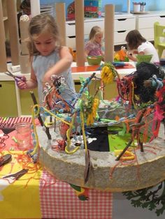 """3-D sculpture, using various textures & materials, at Bambini Creativi an Early Learning Educational Project ("""",)"""