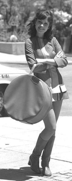 "Zooey Deschanel's stewardess uniform in ""Almost Famous"", set in the early 1970s. FAV MOVIE"