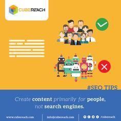 Create content for your target audience. http://cubereach.in #contentmarketing #searchengineoptimization #seocontent #searchenginespiders #googlealgorithms #seoindubai #dubaiseo #seotips #googlespiders #targetaudience #seotraffic