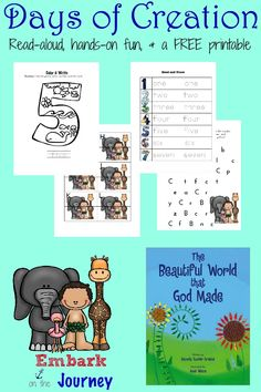 The Beautiful World That God Made Activities and FREE Printable