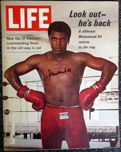 Life Magazine Nov 9 1970 Muhammad Ali on Cover Vietnam & Great Print Ads Old Magazines, Vintage Magazines, Vintage Books, Muhammad Ali, Life Magazine, Float Like A Butterfly, Life Cover, World Of Sports, Sports Stars