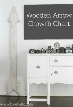 oversized wooden arrow growth chart