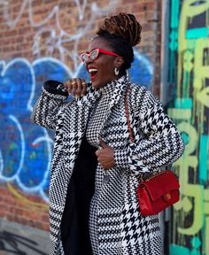 Houndstooth, My Outfit, Have Fun, Plaid, Black And White, Couple Photos, Outfits, Diva, Instagram