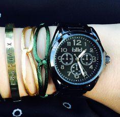 Black watch ikki style, zwart horloge ikki Fashion