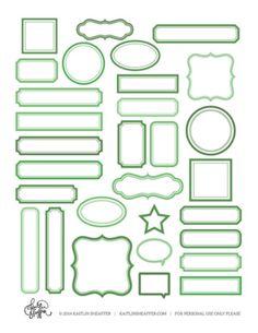 Free Download: KS Green Print & Cut Tags