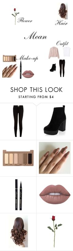 A fashion look from April 2016 featuring sleeveless tshirt, zipper jeans and heeled boots. Browse and shop related looks. Photography Outfits, Clothing Photography, Hair Meaning, Flowers In Hair, Urban Decay, Lime Crime, New Look, Make Up, Polyvore