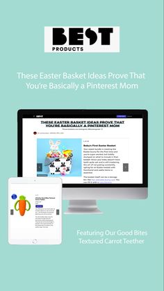 The Easter basket can make or break your kid's mood on Easter morning. Take a look at our ideas so you can get it right and build an Easter basket your kid will love. Teething, Easter Baskets, Carrot, Parenting, Mom, How To Make, Kids, Products, Young Children