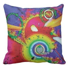 """Threshold KC image Throw Pillow. Decorate your space and your mind with the grooviest psychedelic pillows yet. Enjoy lounging in comfort and edgy style. Totally new. Totally now! The trippy image is created from my Kinetic Collage """"Sweet Dreams"""" series of light show photos. How hip is that? Over 3000 products at my Zazzle online store. Open 24/7 World wide! http://www.zazzle.com/greg_lloyd_arts*?rf=238198296477835081 + See KC @  http://www.youtube.com/user/kineticcollage"""