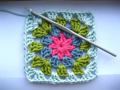 Summer Garden Granny Square. I taught myself to crochet today!
