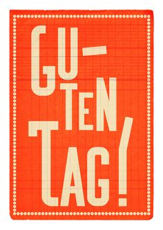 Hello! (in German) by etsy vendor EDUBARBA. the left & right justification works well with the quirky font & light message