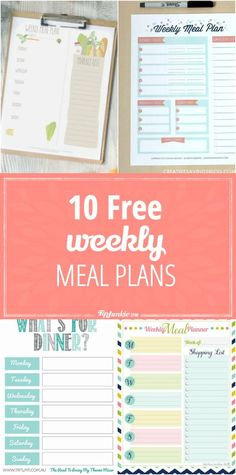 10 Free Weekly Meal