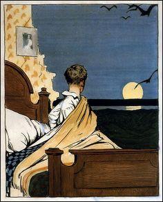 Boy and Moon — Edward Hopper
