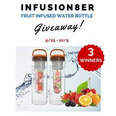Infusion8er Fruit Infused Water Bottle #Giveaway - 3 winners! (ends 10/9)