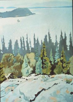 Fairfield Porter, View From A High Ledge no. 2, 1972-75