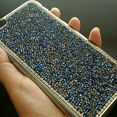 *Just in* iPhone 6 Plus Phone Case Blue Crystals! So gorgeous!   Druzy / Faceted diamonds style phone case for Apple iPhone 6 Plus,  beautiful silver case with deep blue crystals! Totally in love with this case! Very pretty!!!!   Brand new in original packaging.   Buy with confidence 5 stars ratings on over 350 sales! Accessories Phone Cases