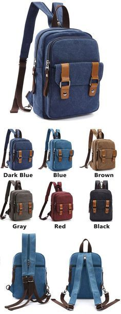 Retro Small Splicing Belts Multifunction Shoulder Bag Dual-purpose Canvas  School Backpacks is so cool 02840e4851d