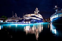 Mega Yachts in Port Louis