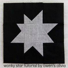 Wonky Star #Quilt Block #Tutorial