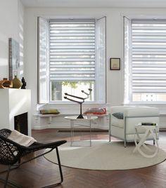 Luxaflex® Twist® Shades subtle voiles and silky fabrics, textured fabrics and stylish patterns are perfect for a stylish home. #Luxaflex #TwistShades #MidCenturyModern #Blinds