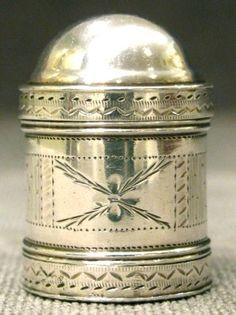 A Fine George III Sterling Silver Nutmeg Grater, Hallmarked Birmingham 1791