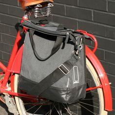 Basil Urban Fold Bike Pannier Charcoal | Cyclechic | Cyclechic