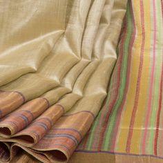 Rema Kumar Hand Woven Tussar Twill Silk Saree 10001695 - AVISHYA