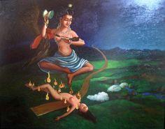 Painting of Machig Labdrong-the Dakini in Chod Sadhna Fine Arts College, Om Mani Padme Hum, Buddhist Art, Princess Zelda, Disney Princess, Tantra, Central Asia, Buddhism, Disney Characters