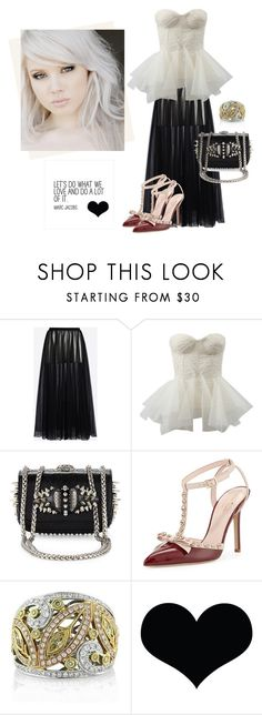 """""""Always dress like you're going to see your worst enemy"""" by curlysuebabydoll ❤ liked on Polyvore featuring Valentino, Zac Posen, Christian Louboutin, Kate Spade, Mark Broumand and Brika"""