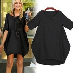 loose cut dress black