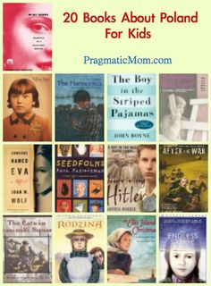 20 Books About Poland :)  Slot of these books take place during WWII :) this was my favorite thing to learn in History :)