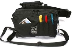 PortaBrace BP-2B Black Waist Belt Production Pack with Two Cargo Pouches