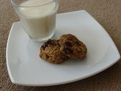 Banana, Oat, Choc-Nut Cookies