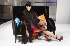 Amazing hair dress - Glam rock with #Decibel: 2013 Haute Couture #hair trend by Sassoon  #beauty