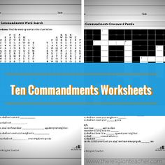 The Ten Commandments Word Search and a Ten Commandments Crossword Puzzle help students memorize and remember each commandment. Catholic Religious Education, Catholic Religion, Catholic Kids, Matrix Multiplication, Middle School Health, Ten Commandments, Writing Worksheets, How To Memorize Things, Crossword