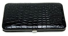 Roger Enterprises Flat Wallet with Zipper Pocket, Checkbook , Id Photos. Drivers License, Credit Card Holders